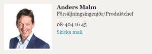 Kontakta Anders Malm